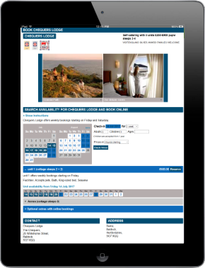 Web Booking - Full page integration